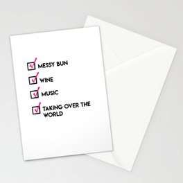 Girl Boss Checklist Stationery Cards