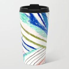 Wild: a mixed media piece in a variety of bright colors Metal Travel Mug