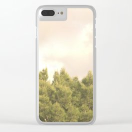 Tree tops and sky Clear iPhone Case