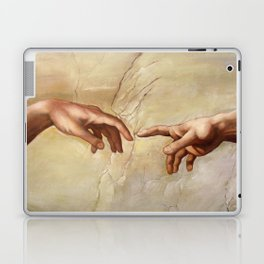 "Michelangelo ""Creation of Adam""(detail) Laptop & iPad Skin"