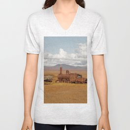 Train Going Nowhere Unisex V-Neck