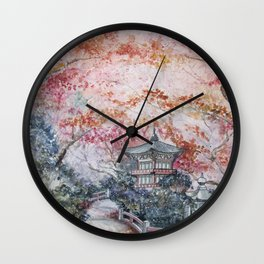 Autumn (Watercolor painting) Wall Clock