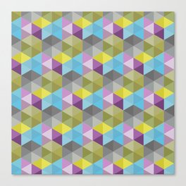 Tangrams Pattern Canvas Print