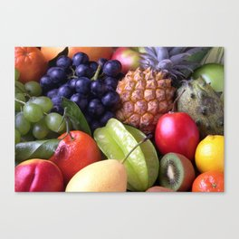 Tropical Fruits Canvas Print