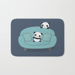 Kawaii Cute Pandas Bath Mat