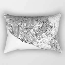 Orange County White Map Rectangular Pillow