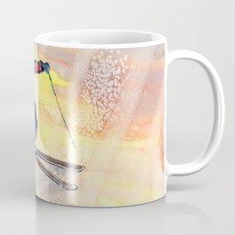 Colorful Skiing Art Coffee Mug