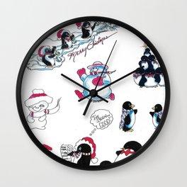 Christmas Friends Wall Clock