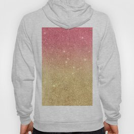 Pink abstract gold ombre glitter Hoody