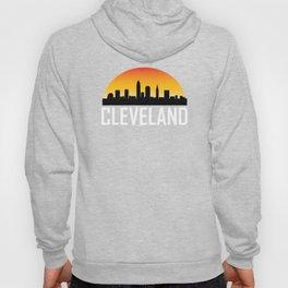 Sunset Skyline of Cleveland OH Hoody