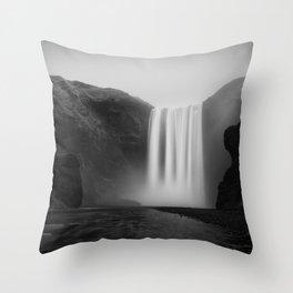 Iceland, Skogafoss waterfall Throw Pillow
