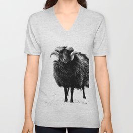 Black Ram Unisex V-Neck