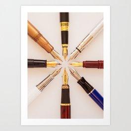 Penwheel Art Print