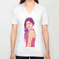pretty little liars V-neck T-shirts featuring Pretty little liars - Lucy Hale by Lais Design