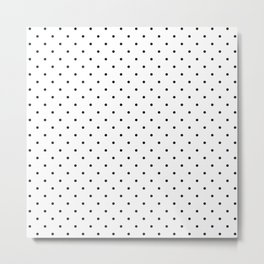 Little Dots Black on White Metal Print