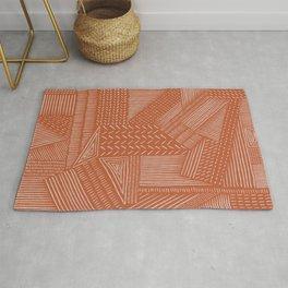 Mud Cloth / Orange Rug