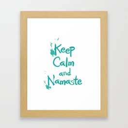 Keep Calm and Namaste Framed Art Print