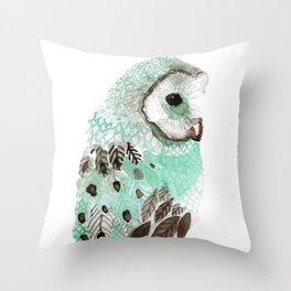 Watercolour Owl Throw Pillow