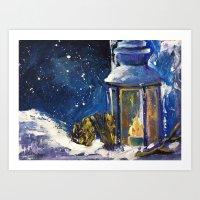 lantern Art Prints featuring Lantern by TamTamArt