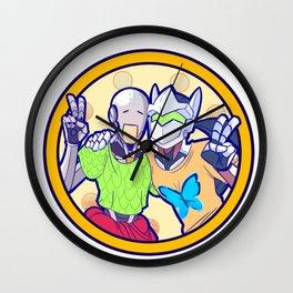 Human and Robot Love - Zenyatta & Genji Wall Clock