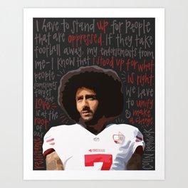 Colin Kaepernick. Art Print