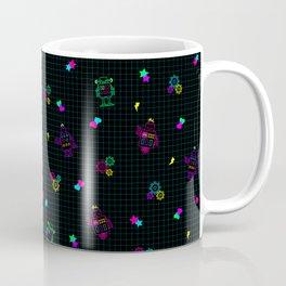 Disco Bots Black Coffee Mug