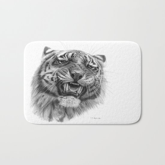 Tiger roar  G082 Bath Mat