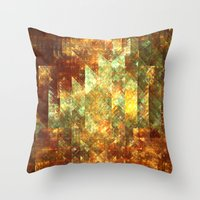 crystals Throw Pillows featuring Crystals by Rhawrbhawrburr