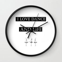 i love... black2 ( https://society6.com/vickonskey/collection ) Wall Clock