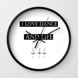 I Love... black 2 Wall Clock