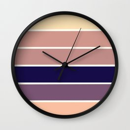 Mauve Stripes Wall Clock