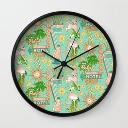 Motel Kitsch Pastel Wall Clock
