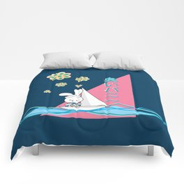 Stinky Bunny Sailing Away! Comforters