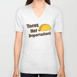 Tacos Not Deportation Unisex V-Neck