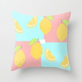 Lemon squad Throw Pillow