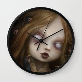 The face of all your fears Wall Clock