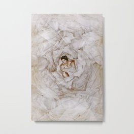Deep in White Metal Print
