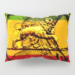 Lion of Judah Haile Selassie King of Kings Pillow Sham
