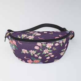 Flamingos and Magnolia Blossom Fanny Pack