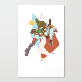 High Flying Laser Dodging Bounty Hunter Bounty Hunter Canvas Print