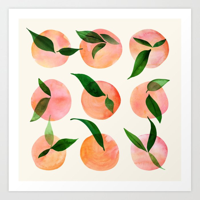 Abstract Orchard / Watercolor Fruit Art Print