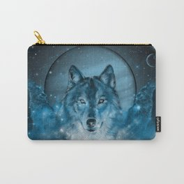 wolf in blue Carry-All Pouch