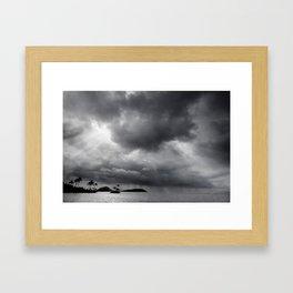 Storm Over Maunalua Bay Framed Art Print