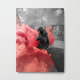 Urban combat Metal Print