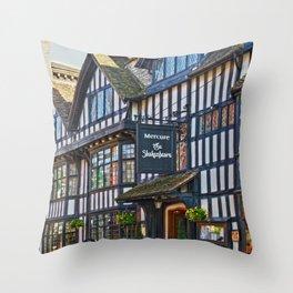 Timber Frame House  Throw Pillow