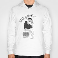 fear and loathing Hoodies featuring Fear and Loathing in Albuquerque (Breaking Bad) B&W by Evan