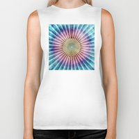 tie dye Biker Tanks featuring Textured Mandala Tie Dye by Phil Perkins