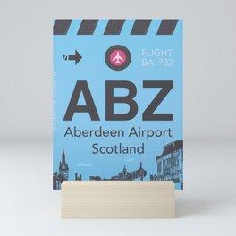 ABZ airport Mini Art Print