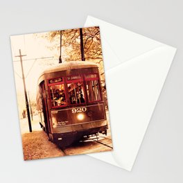 St Charles Street Car - New Orleans Stationery Cards
