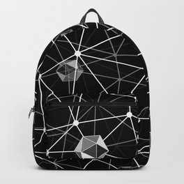 Black and White Geometric Shape Constellation Dream Backpack